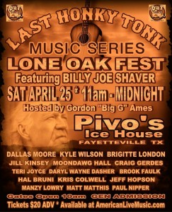 Billy Joe Shaver Lone Oak Fest